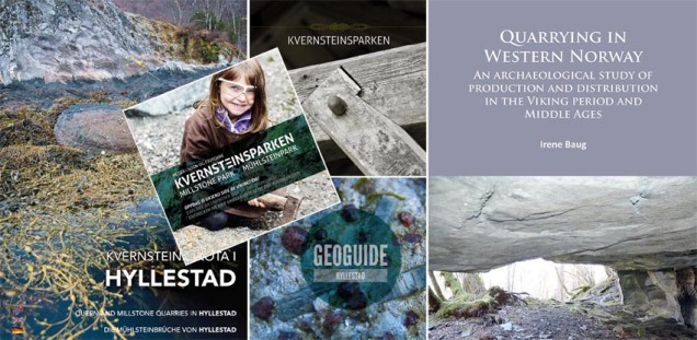 Booklets and literature on the Hyllestad millstone quarries
