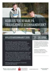 Program for Hyllestadseminaret 2015