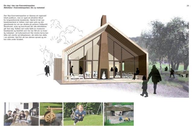 Klipp frå utviklingsplanen til Kvernsteinsparken. Illustrasjon: GroenlandBasel, Sveits.