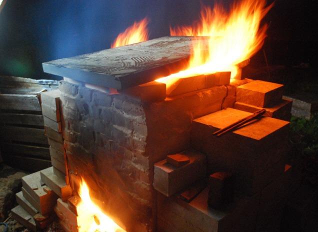 Flammehav da det kom vindkast på natten