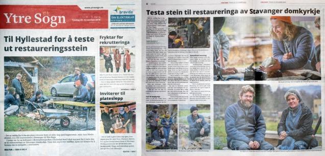 Kalkbrennerreportasje i avisa Ytre Sogn, signert Espen Bakketun