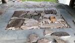 Ovnen er ferdig fylt og vi har funnet marmorplater for å dekke til