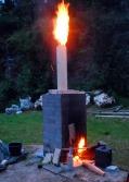 Trepipa på østersovnen går opp i flammer midt på natta!
