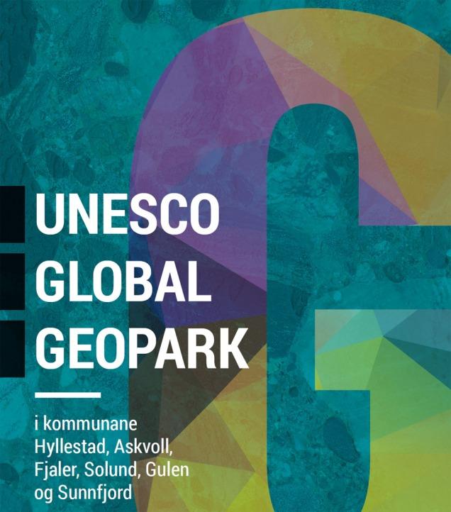 Forsida til ny rapport om Geopark i HAFS/Ytre Sogn