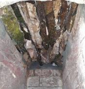 Brennkammerhvelvet sett fra undersiden.