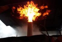 Når pipa brenner opp kan det bli spektakulært fyrverkeri!